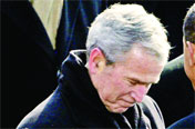George Bush - Before President Barack Obama George Bush was the President of US for two terms. He ruled America for eight years. Former President is much criticized for Iraq War.