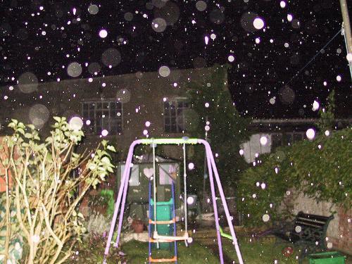 rain orbs - multiple orbs caused by rain