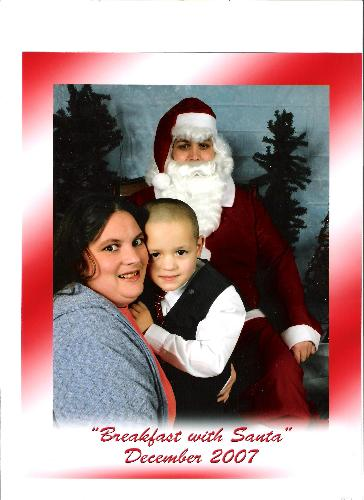 Christmas Pictures with Santa - christmas picture @ breakfast with Santa