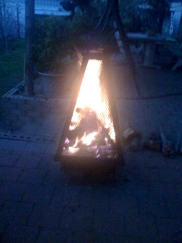 Outdoor fireplace - This is our outdoor fireplace