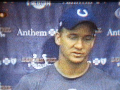 Indianapolis Colts QB Peyton Manning - Superimposed photo of Peyton Manning by Alfonso Coley