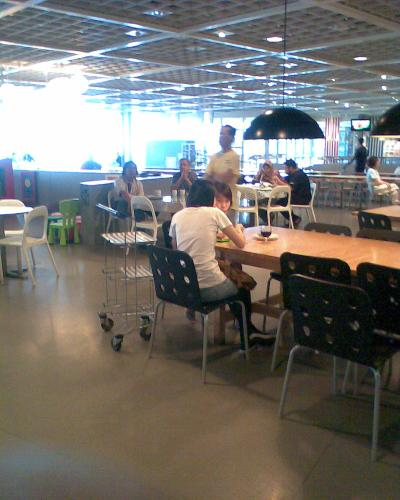 The IKEA Restaurant - Waiting for tea