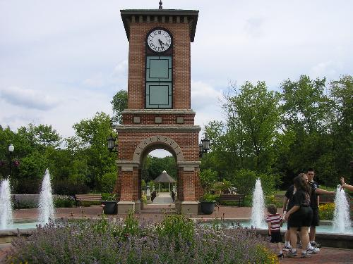 Clock tower in Algonquin Illinois - Clock tower in Algonquin Illinois it leads in to a beautiful park and is located close to the small down town area.