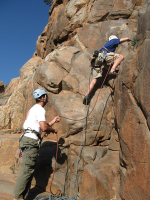 Rock climbing - Rock climbing on a mountain, extreme sport with a lot of adrenalin. Would you do it?