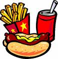 food - Burger, french fries and soda