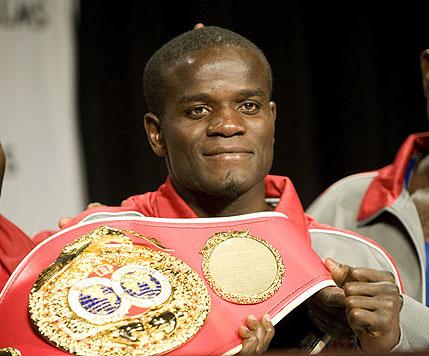welterweight  - Clottey and his welterweight belt