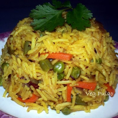 Veg Pulao - Veg pulao with mixed vegetables