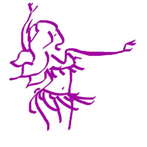 belly dancer - An artistic rendition of a belly dancer.
