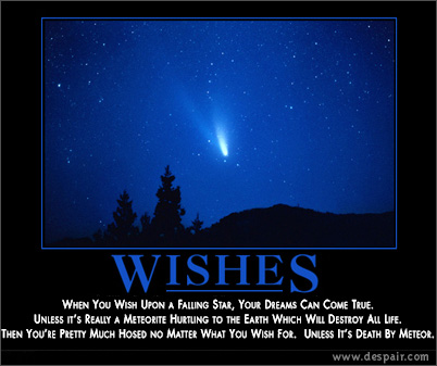 wishes - what if GOD gives you three wishes.......