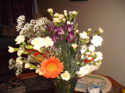 Two bunches of flowers - flowers from my kids