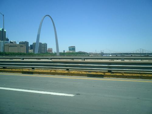 st louis arch - this is the arch. I took it out the car window as we passed
