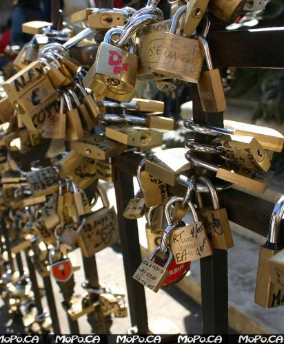 Love Padlocks - write your lovers name on the padlock.