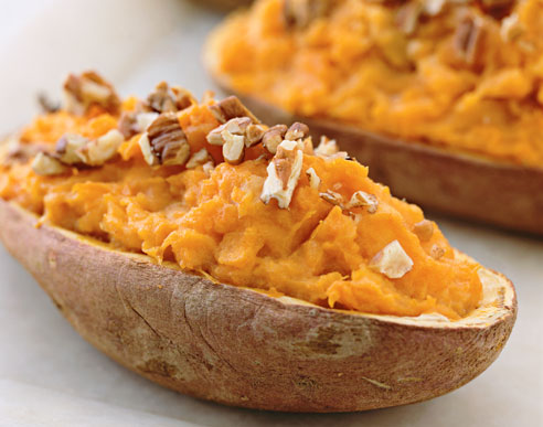 Baked sweet potatoes - I just love to eat it........