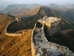 the Great Wall in China - the Great Wall snakes through north of China.it has thousands of history.