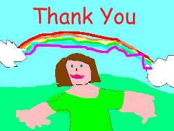 Thankyou Card - A computer picture my daughter made for the thank-you cards for her 5th birthday.
