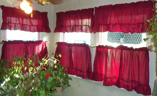 Dining - new curtains and windows