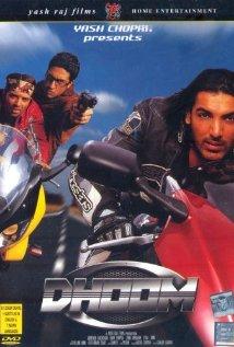 Dhoom - Dhoom, starring Abhishek Bachchan, Uday Chopra and John Abraham