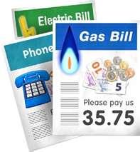 Bills - electric bills,gas bills