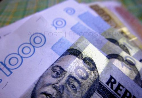 money - money is a medium being used to purchase goods and to pay for the rendered services.