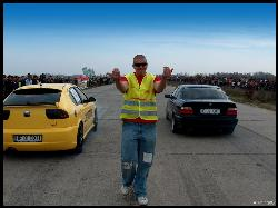 Just me  - This is a photo taken at a legal race from Romania :)