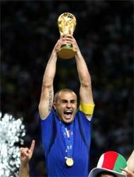 Cannavaro - Cannavaro with the fifa world cup