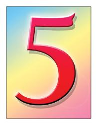 number 5 - my lucky number is 5 because it is the date of my birth