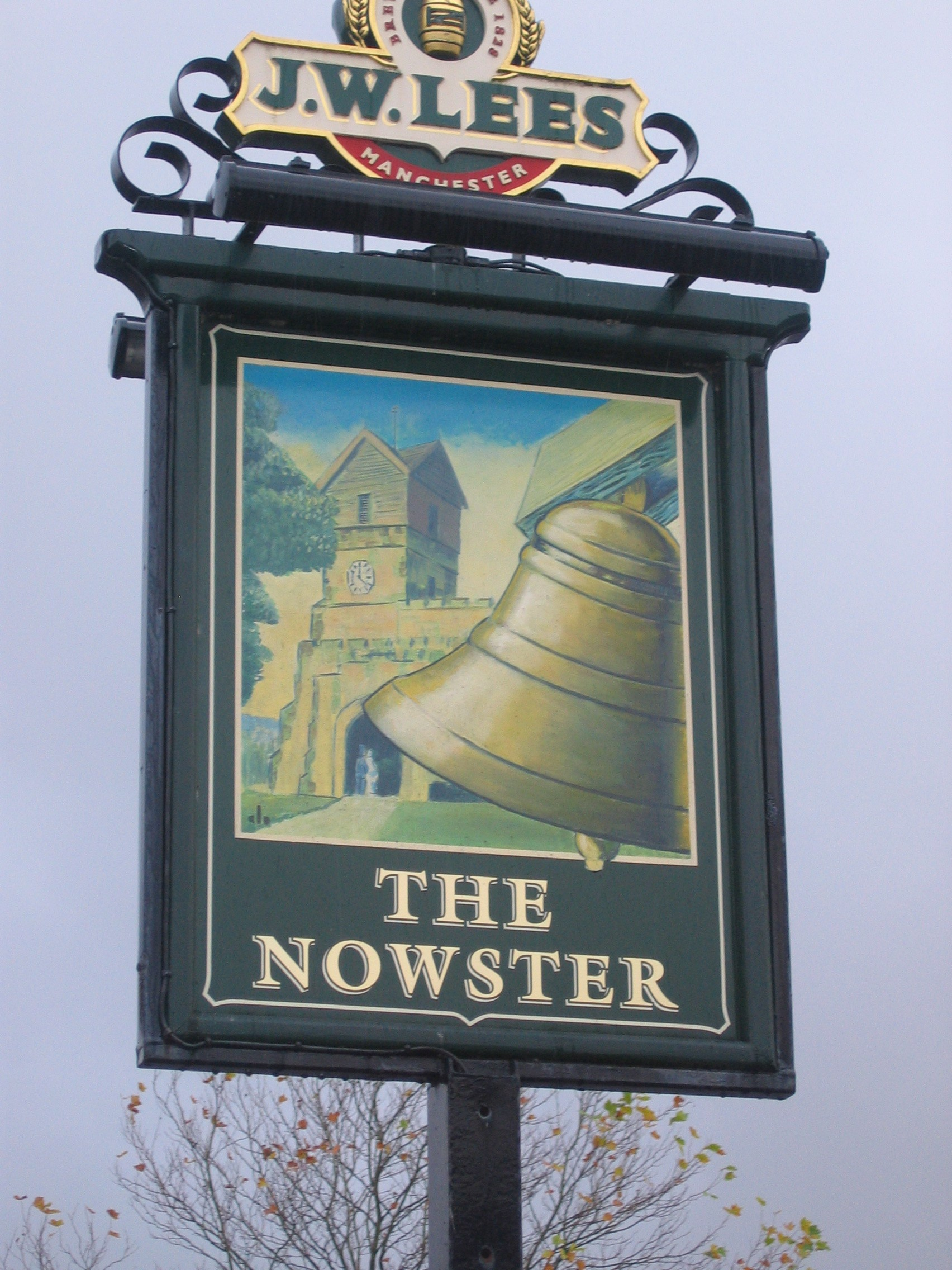 Photo taken by me - The Nowster pub sign - Middleton - Greater Manchester