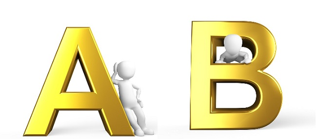 Letters A and B