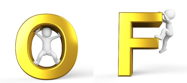 letters o and f