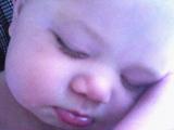 Travis Sleeping - This is my son Travis sleeping in his highchair.