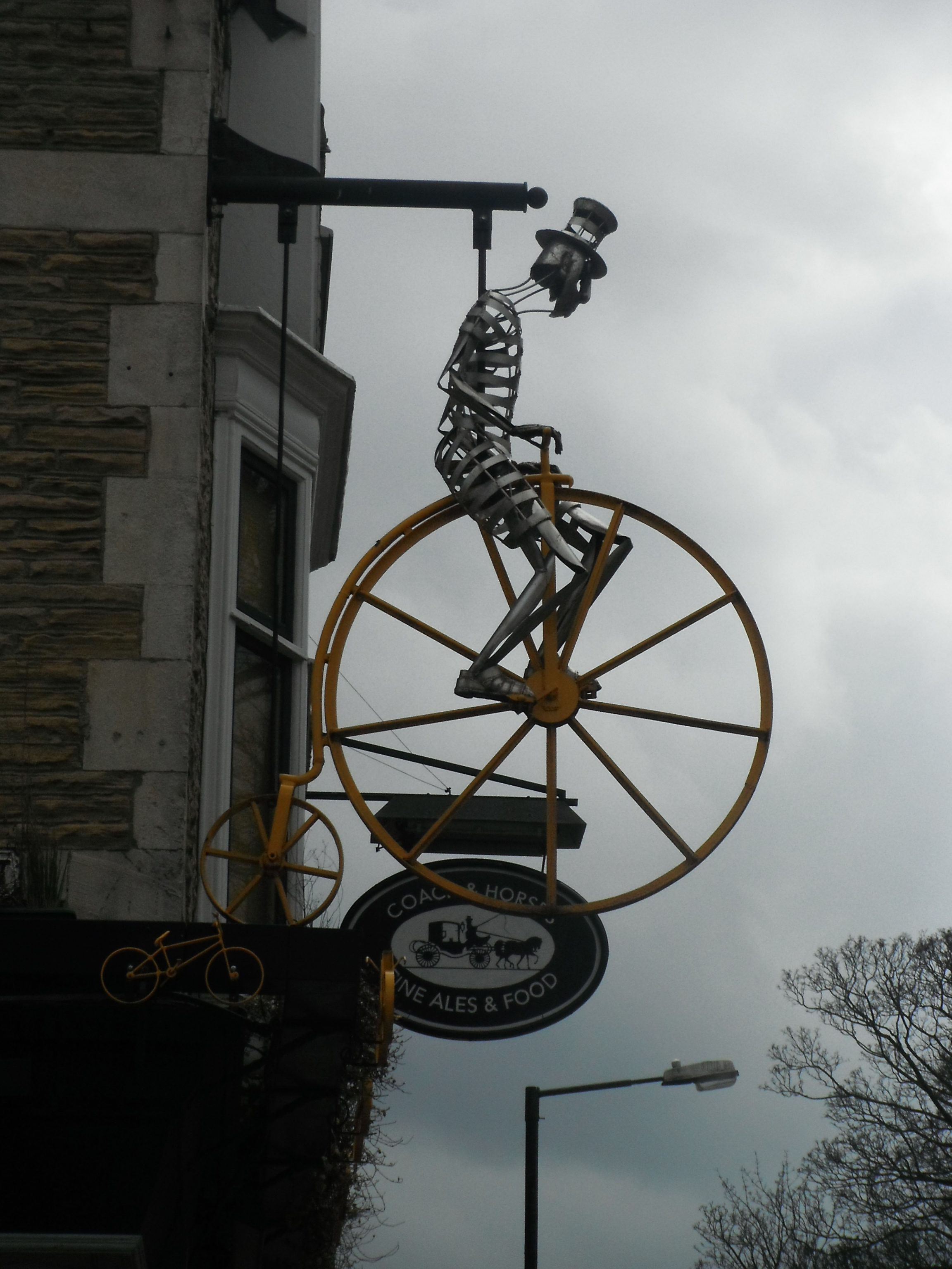 Photo taken by me – the skeleton at the Coach And Horses, Harrogate