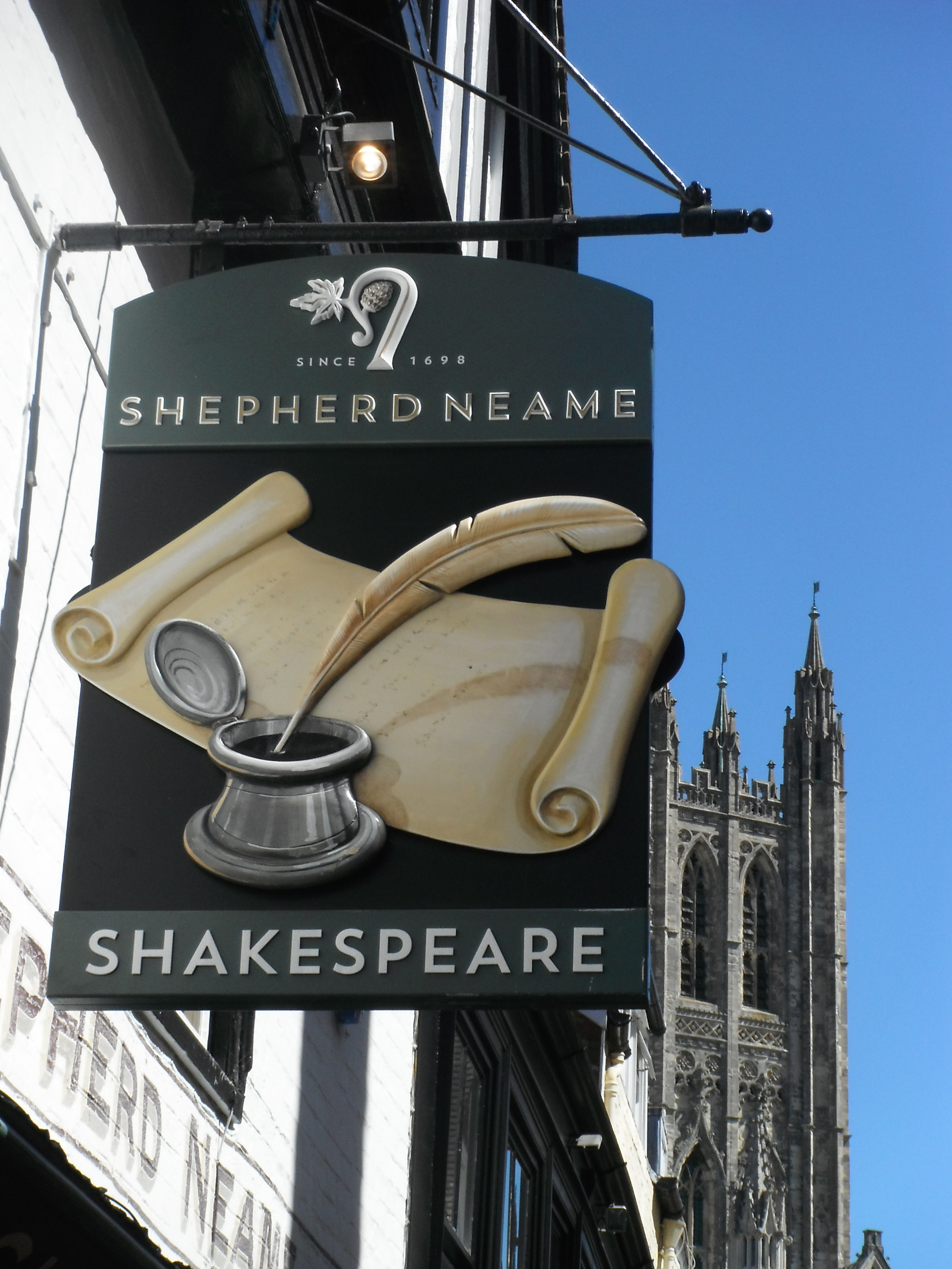 Photo taken by me - The Shakespeare pub sign - Canterbury