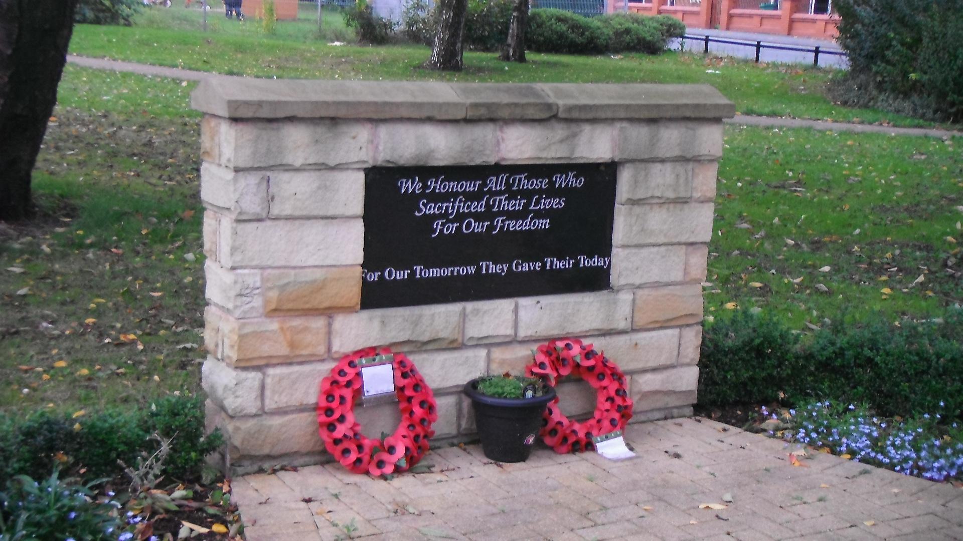 photo taken by me - war memorial - Newton Heath, Manchester