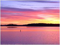 Virginia's Smith Mountain Lake at sunset - This pic shows beautiful Smith Mountain Lake in Virginia.  It's so peaceful and serene.