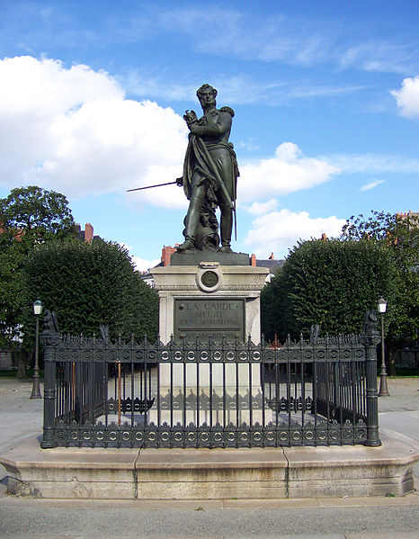 Statue of the general Pierre Cambronne in Nantes, France. Photo Florestan, GNU Free Documentation License.