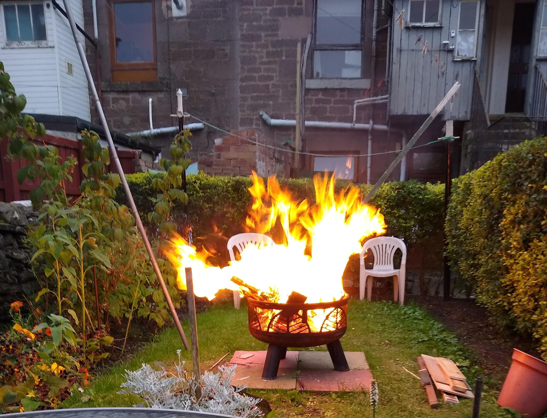 For pit burning
