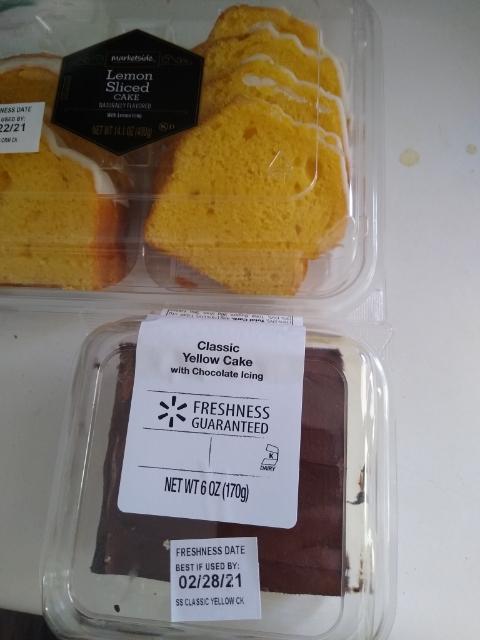 Cake from Walmart. Photo is mine.