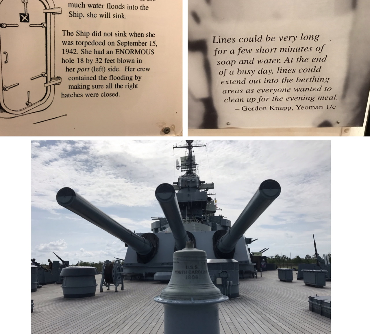 Photos from the tour of the USS North Carolina.  Photos taken by and the property of FourWalls.