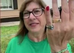 Mary Gazall Breadslee and her class ring from high school