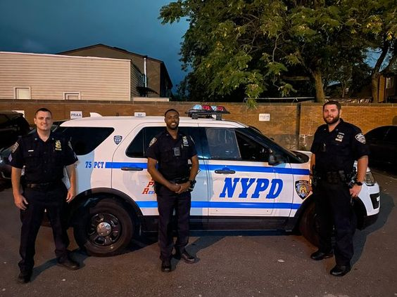 Sergeant Lynch on the left and officers Lynch and Blake