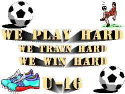 we play hard - soccer design I made for coffee mugs and tshirts at my online shop. www.cafepress.com/leeasplace