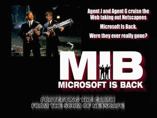MIB (microsoft is back) - this is a photoshop work