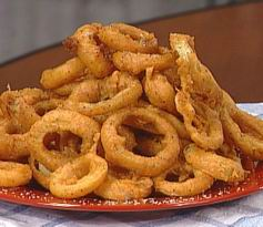 onion rings - this is an image of a plate of onion rings