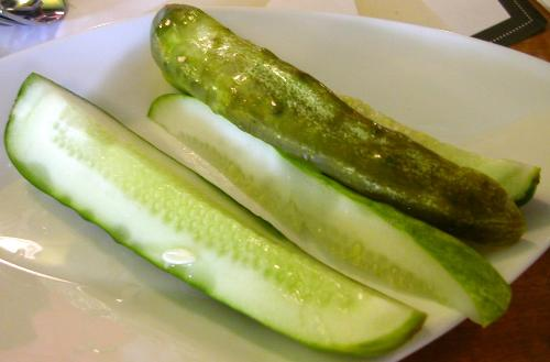 pickles - this is an image of a plate of pickles