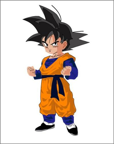 Chibi goku! - i made this in adobe illustrator... please rate it and give me ur valuable feedback