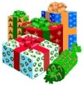 Lots of Christmas Gifts - Wrapped Christmas gifts