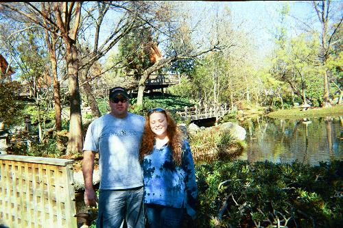My wife and I at the Japanese Water Gardens in For - My wife and I at the Japanese Water Gardens in Fort Worth, TX.