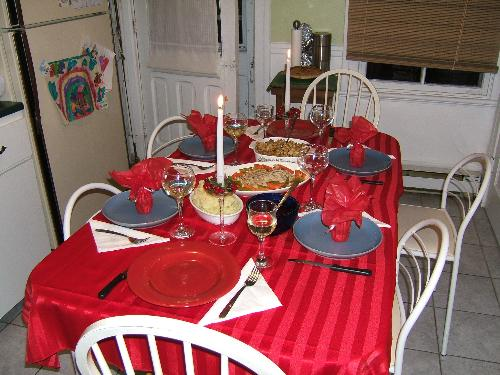 Dinner is Served - Dinner is served.  This is the table at our last dinner party.