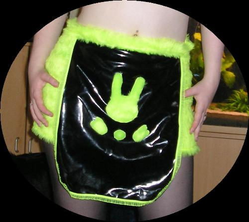 Space bunny skirt - I made this 'skirt' myself. It's actually a hotpants with a flap in front and one in the back :)