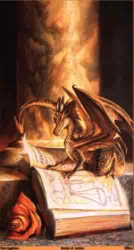 draoon on a book - lore has spoke of dragons and history does not seem to support,  stories abound about the winged creatures that can spit fire